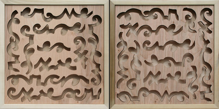 MANDATE SHADOWBOXES 1 & 2 (DIPTYCH) -